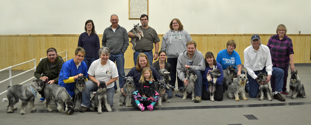 Group Shot of some of the members that attended our January 2015 Grooming Day.